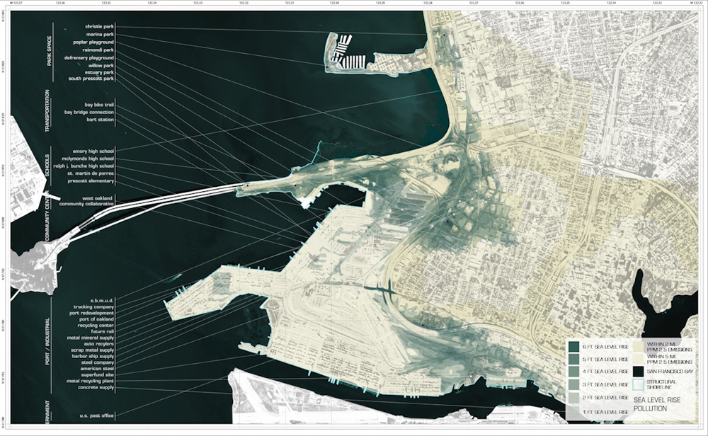 City map of coastal region, LA 4008 Advanced Topics Studio