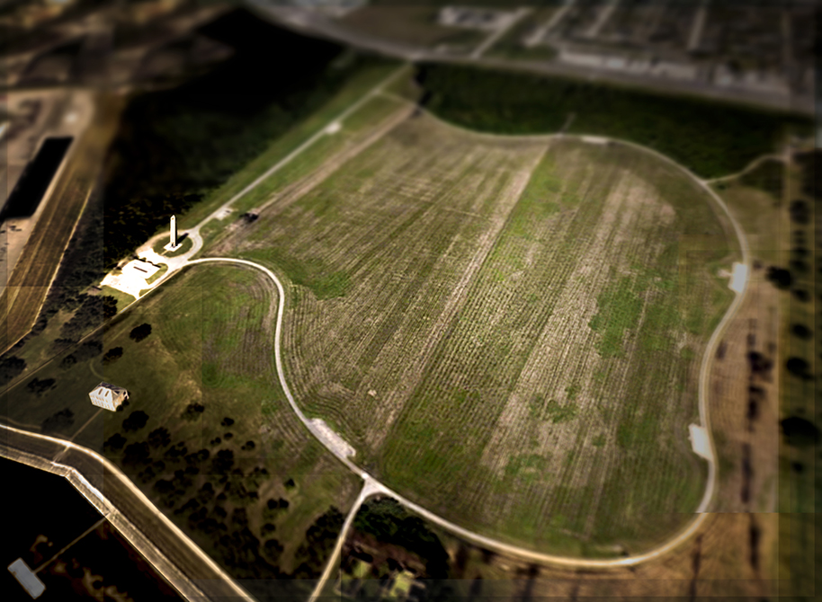 Aerial view of farmland with roads. LA 7002 Graduate Landscape Design II: Site Design