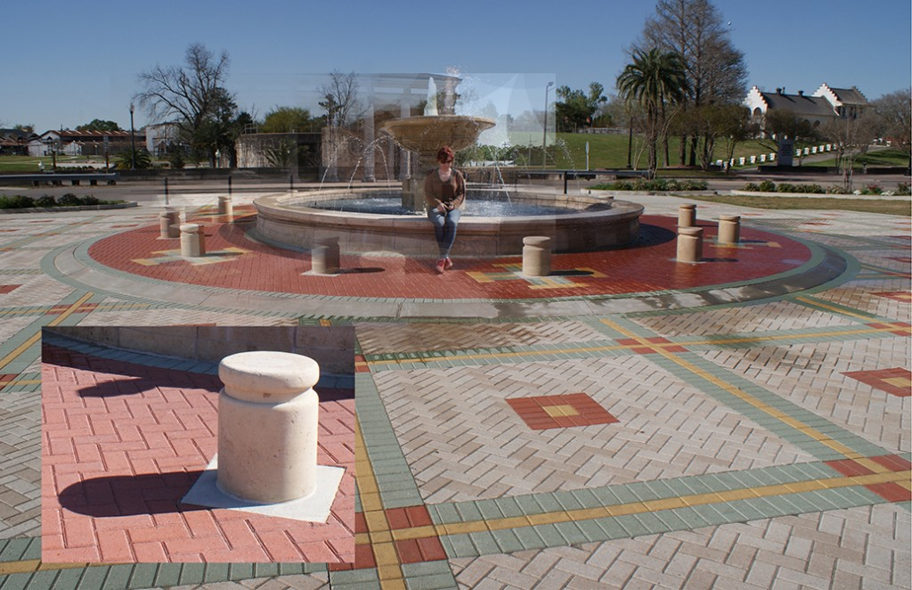 Plaza with fountain. LA 7002 Graduate Landscape Design II: Site Design