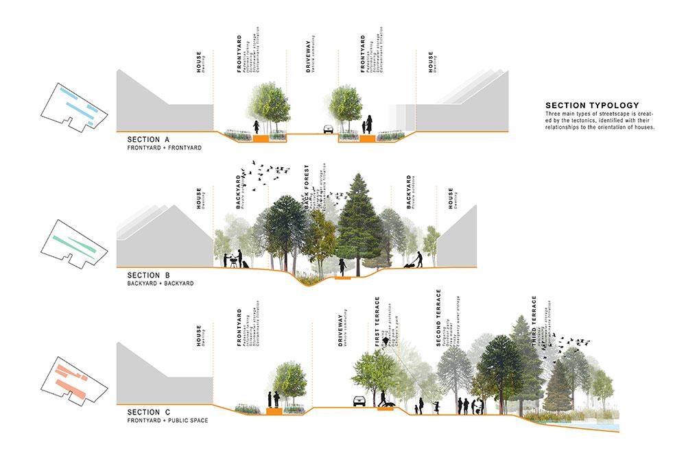 LSU landscape architecture section diagrams