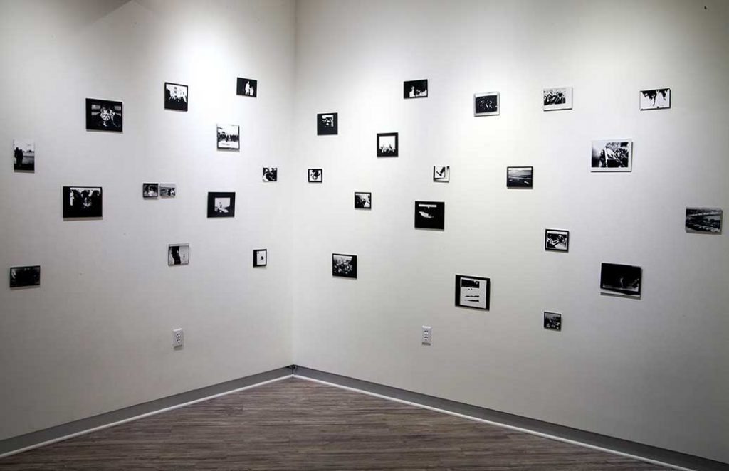 photographs on wall by kristine thompson