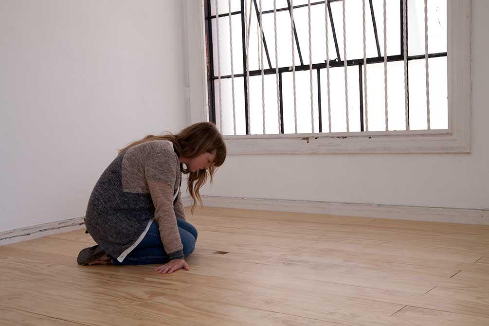 kristine thompson, person in empty room