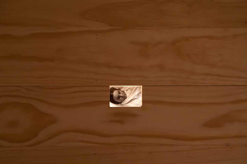 kristine thompson, photo on pine wood floor