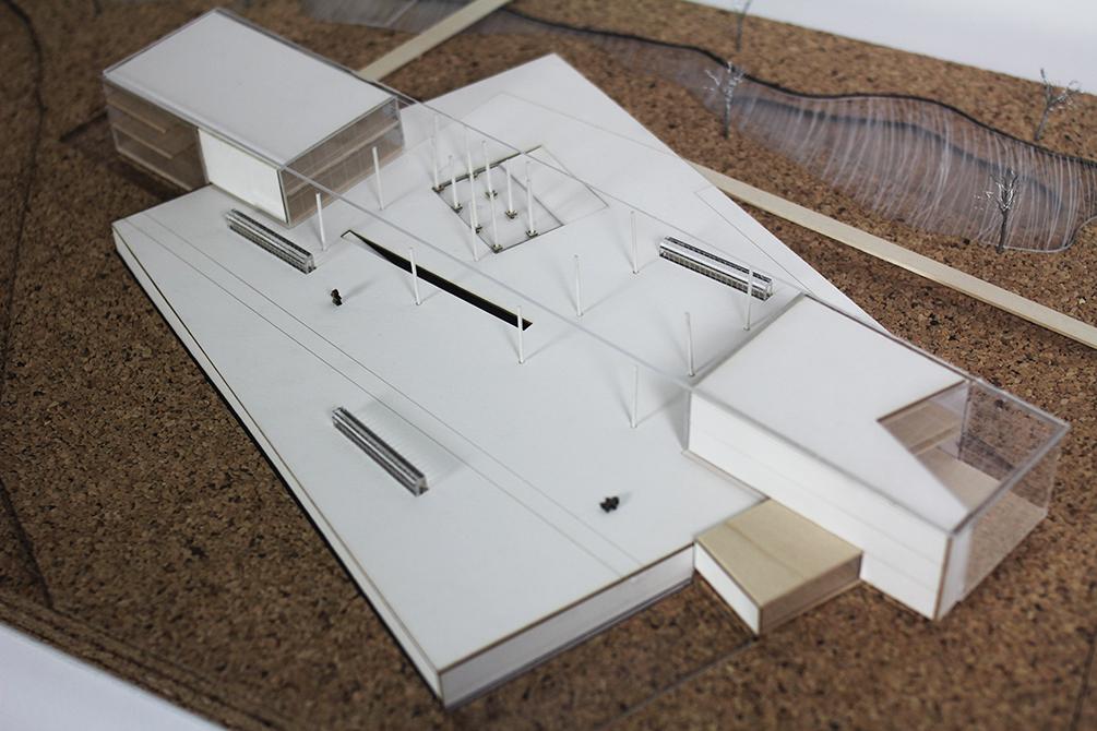 Model in white. LA 7003 Graduate Landscape Design: Water Studio