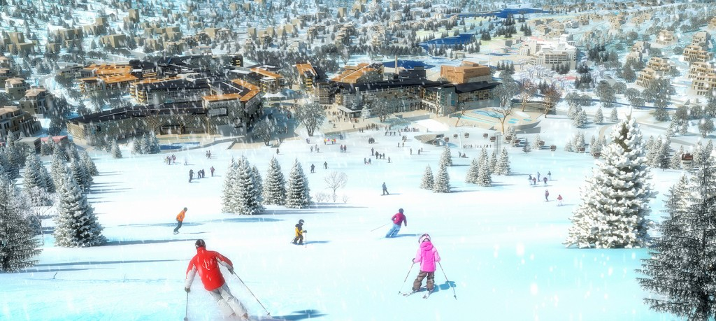 Ski slope rendering, lsu landscape architecture alumni work