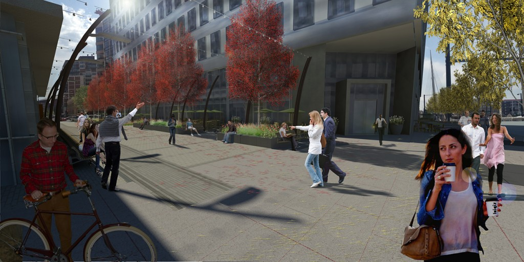 Plaza rendering, lsu landscape architecture alumni work