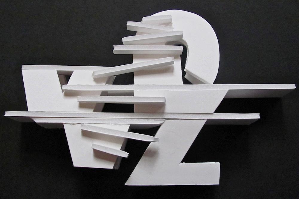 White scuplture. LSU BFA Studio Art Foundations