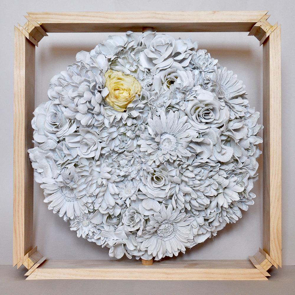 Paper flowers. LSU BFA Studio Art Foundations