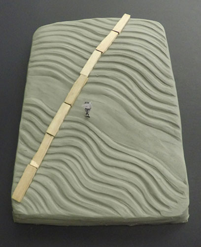 Clay study model of land form