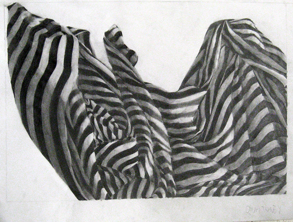Drawing of striped cloth