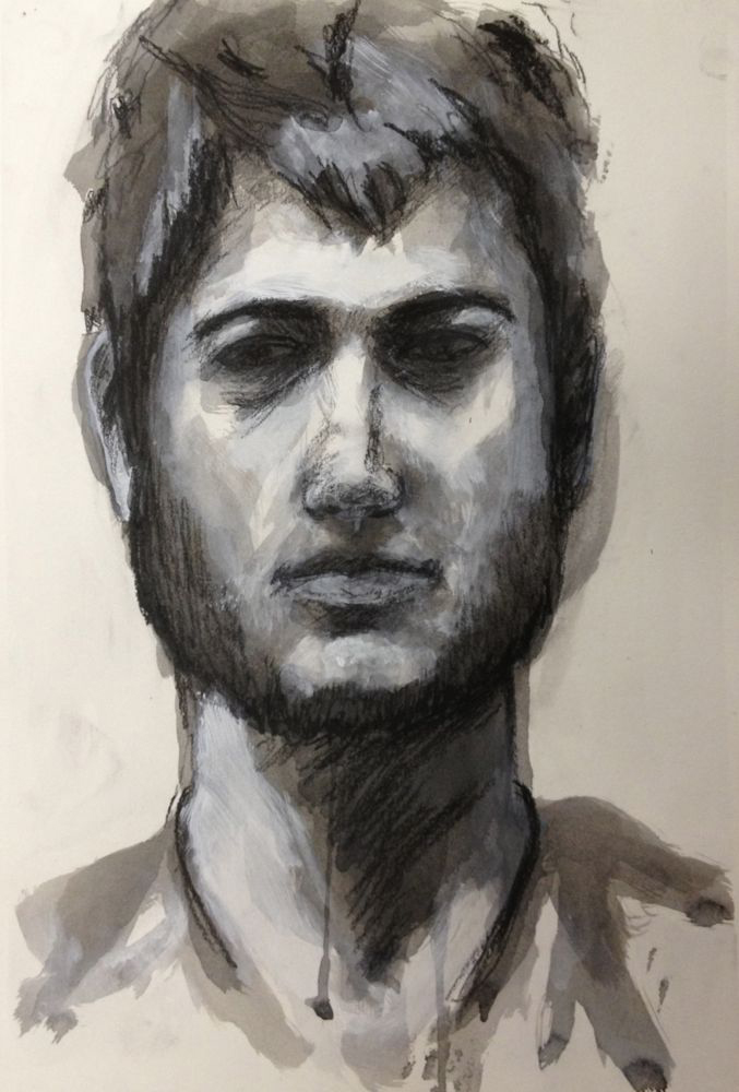 Portrait of young man with beard. BFA Studio Art Foundations