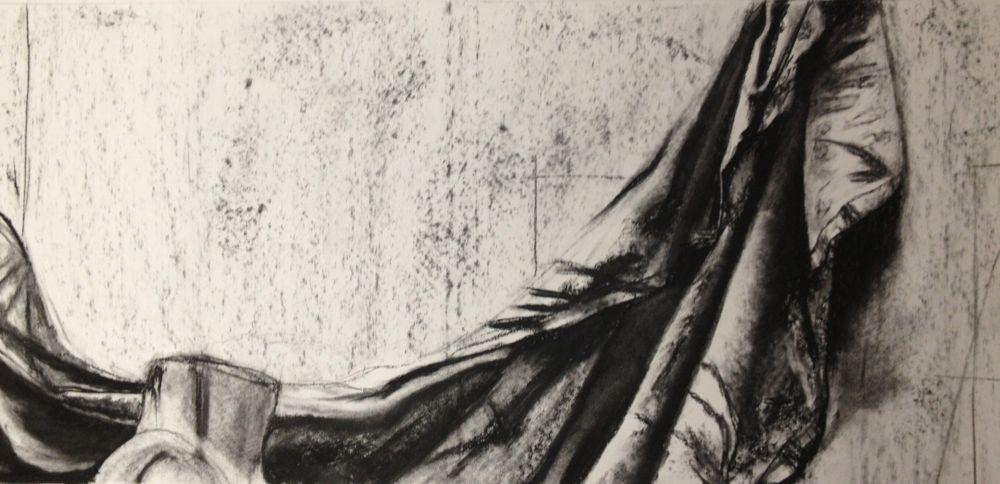 Wrinkled cloth, BFA Studio Art Foundations