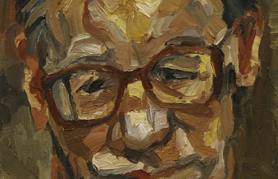 Abstract portrait of a man, LSU BFA Studio Art Painting and Drawing