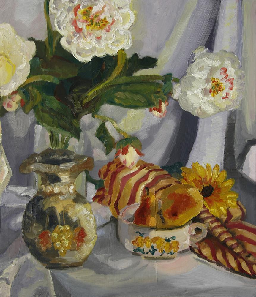 Flowers in vase, LSU BFA Studio Art Painting and Drawing
