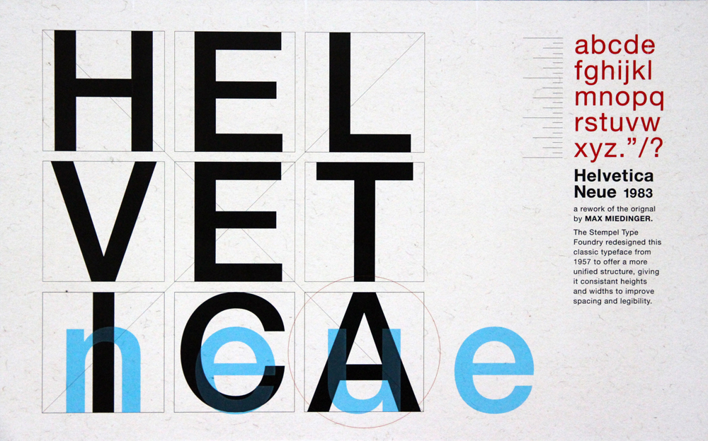 Helvetica poster, LSU BFA Studio Art Graphic Design