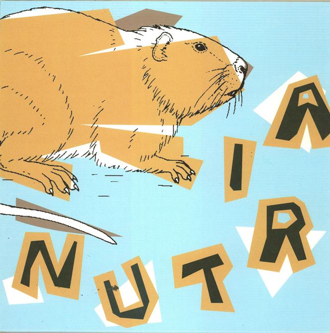 Beaver illustration, text: N U T R I A. LSU BFA Studio Art Graphic Design