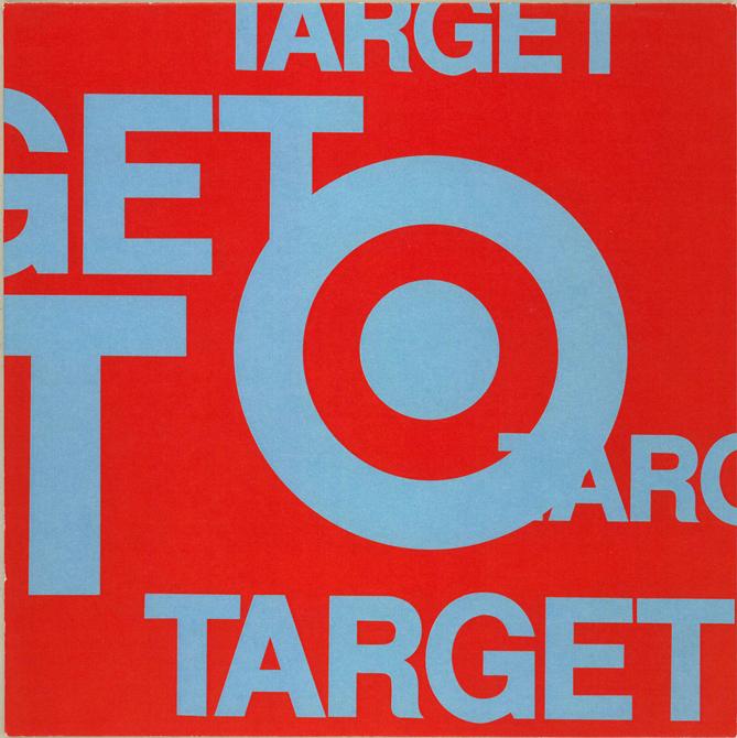 Target logo, red background. LSU BFA Studio Art Graphic Design
