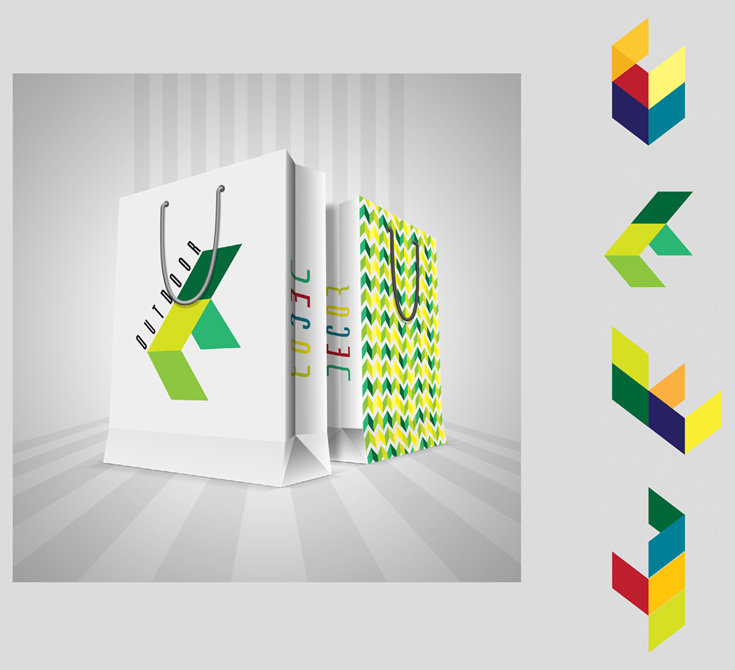 "Bag design with graphics ""Outdoor"" - LSU BFA Studio Art Graphic Design"