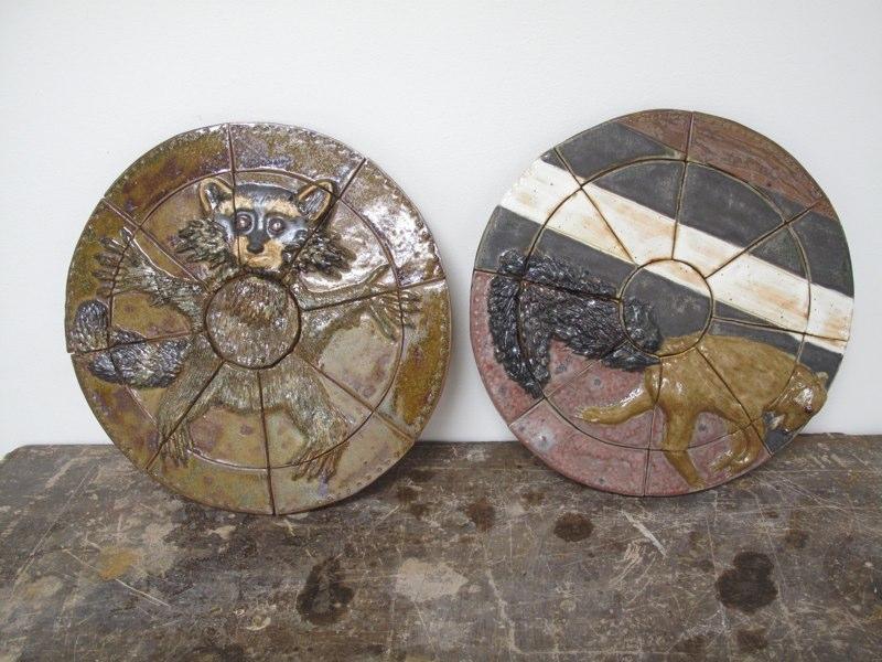 Circle with racoons, LSU BFA Studio Art Ceramics