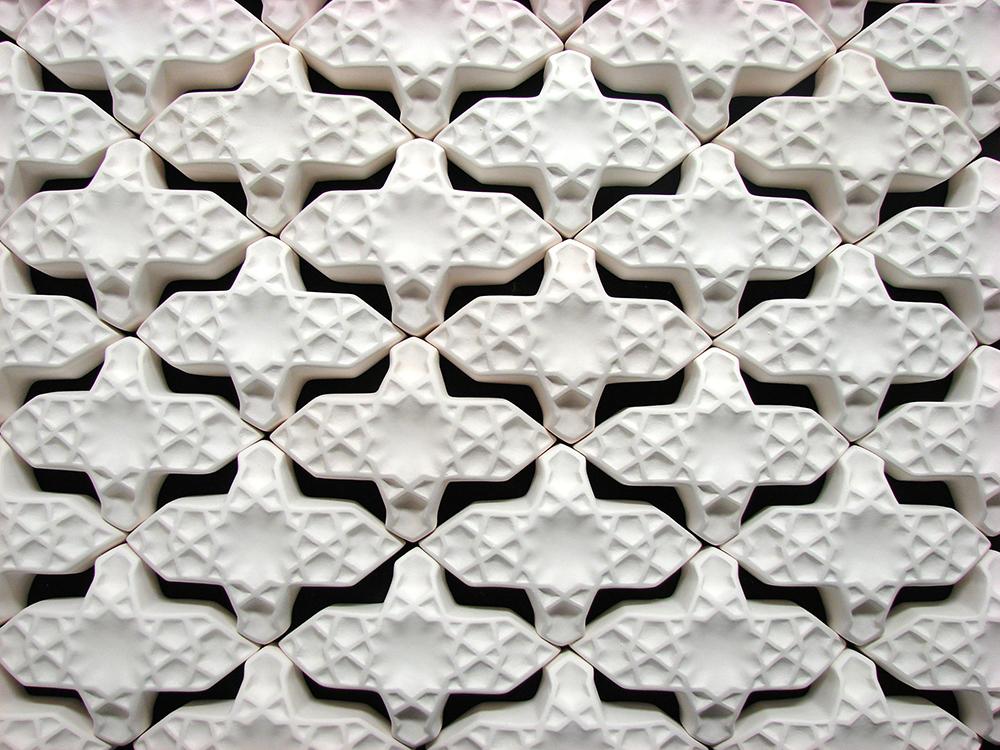 Repeating tile patterns, LSU BFA Studio Art Ceramics