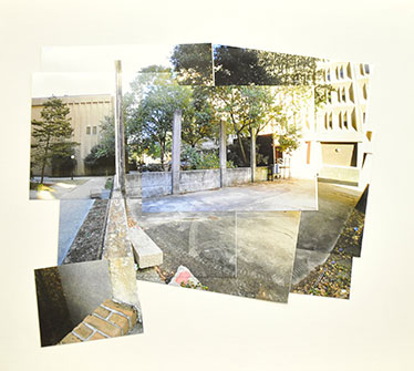 Photo montage of site on LSU campus