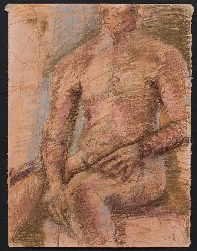 Drawing of seated torso. LSU BFA Studio Art Painting Drawing