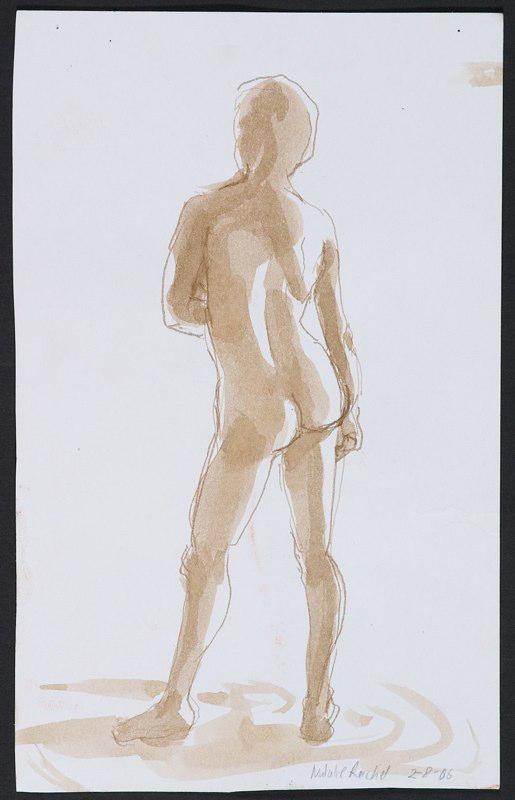 Painting of standing figure. LSU BFA Studio Art Painting Drawing