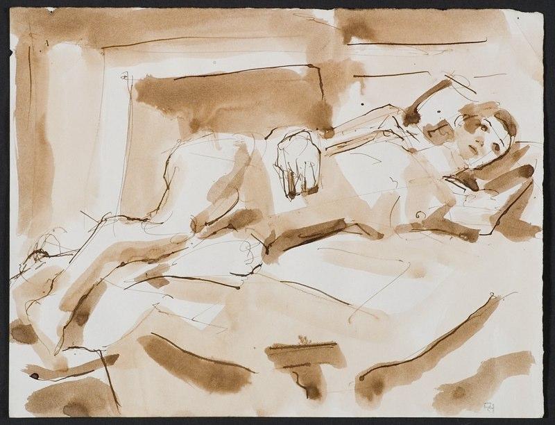 Painting of reclined figure. LSU BFA Studio Art Painting Drawing