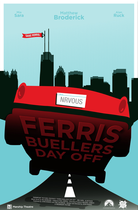 Ferris Buellers Day Off Movie poster design. LSU BFA Studio Art Graphic Design