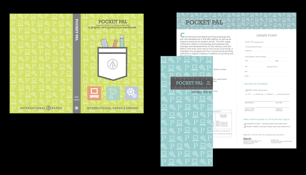 Pocket pal order form design. LSU BFA Studio Art Graphic Design