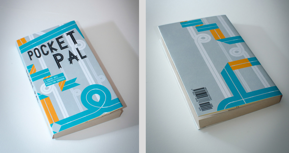 Pocket pal book cover, LSU BFA Studio Art Graphic Design