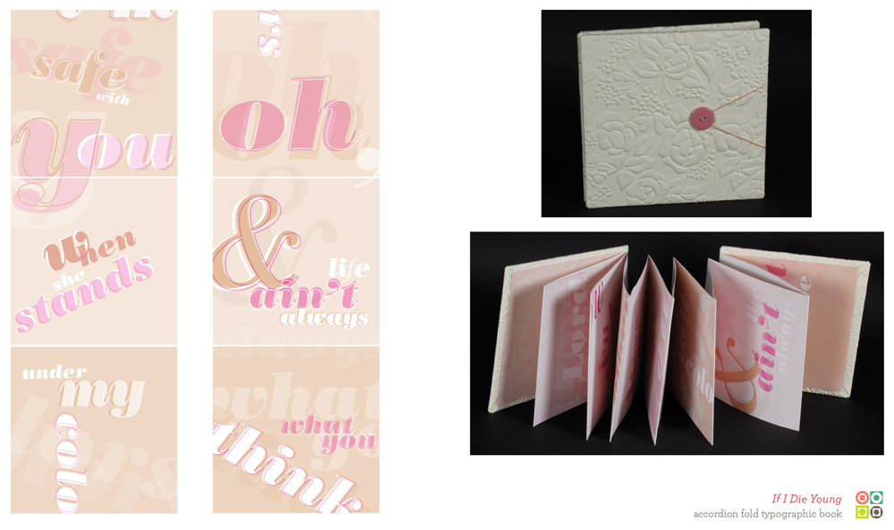 Type with pink text, blush background, white floral book cover. LSU BFA Studio Art Graphic Design