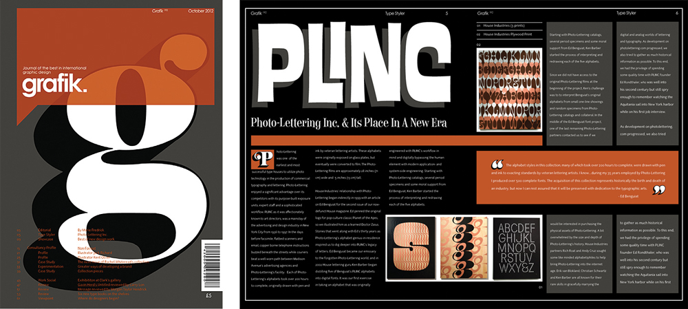 "Magazine spread themed grafik, ""pling photo-lettering"" - LSU BFA Studio Art Graphic Design"