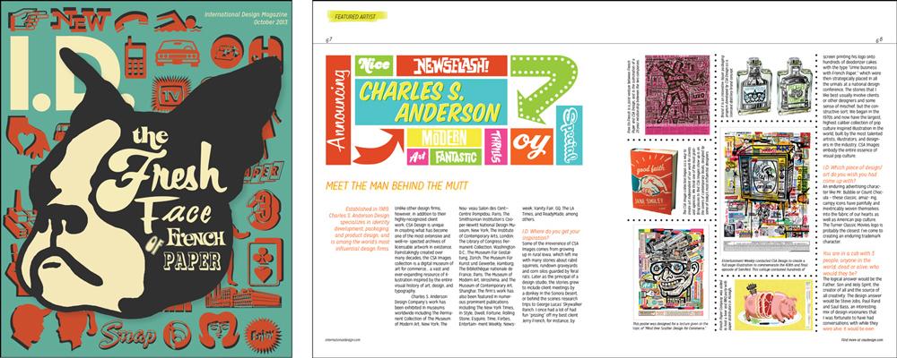 "Magazine design ""the fresh face french paper"" graphic type, LSU BFA Studio Art Graphic Design"