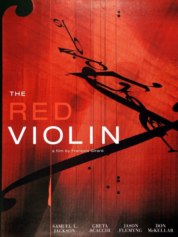 The Red Violin poster design, LSU BFA Studio Art Graphic Design
