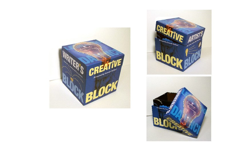 Creative Block design prototype, LSU BFA Studio Art Graphic Design