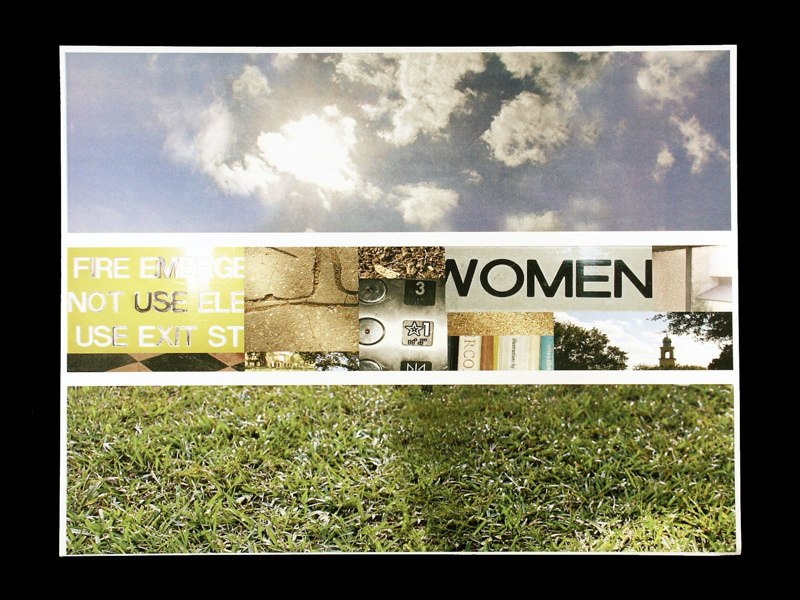 Panel photos sky, grass, scenes. LSU BFA Studio Art Graphic Design