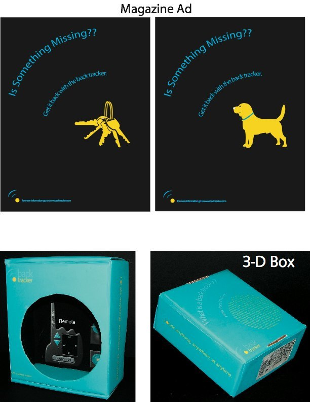 Magazine ad 3-D box, LSU BFA Studio Art Graphic Design