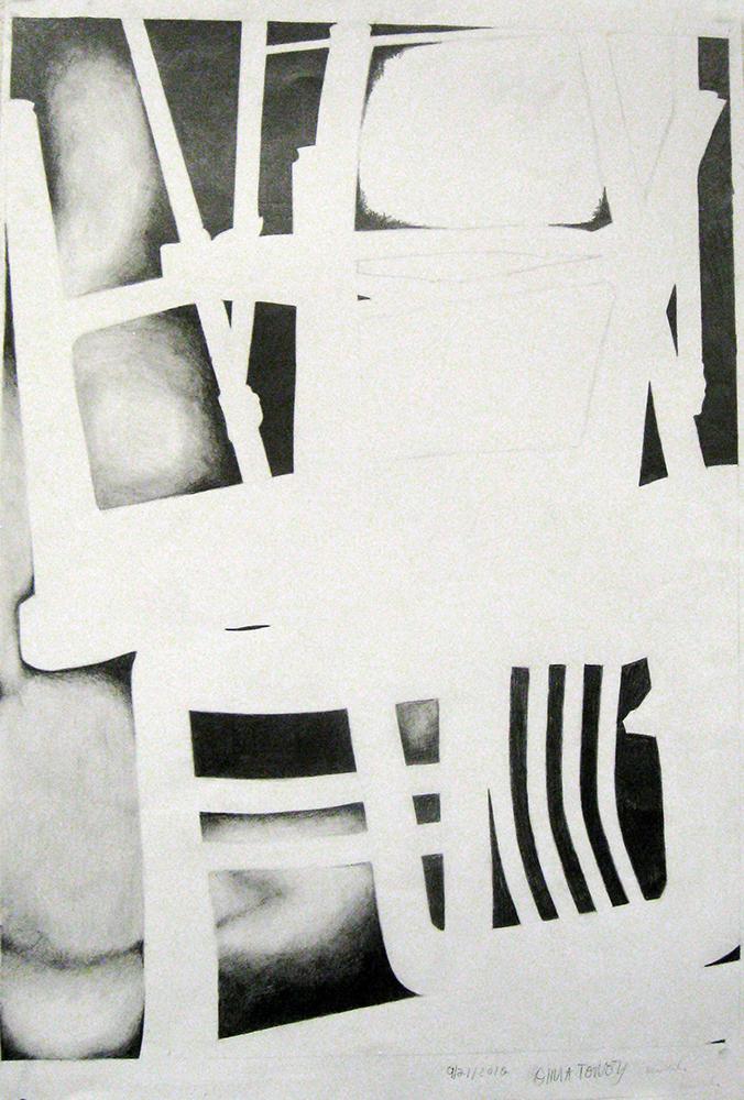 Black and white shapes. BFA Studio Art Foundations