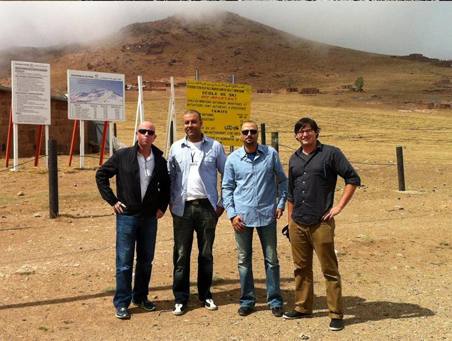 Four men in Moroccan desert