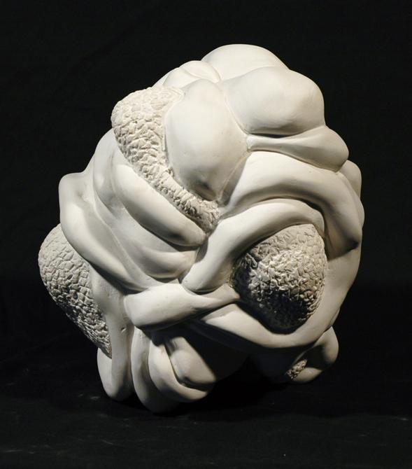 Carving resembling organ. LSU BFA Studio Art Sculpture
