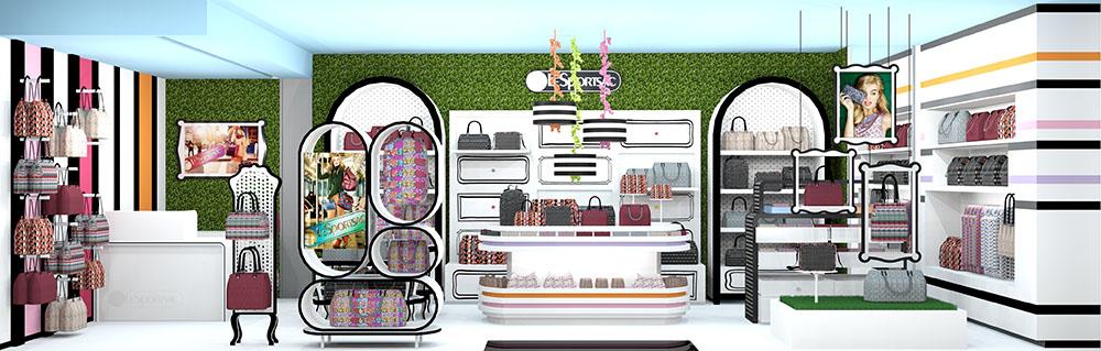 Store design rendering, lsu interior design alumni work
