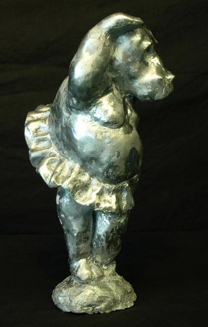 Sculpture of an animal in a tutu, LSU BFA Studio Art Sculpture