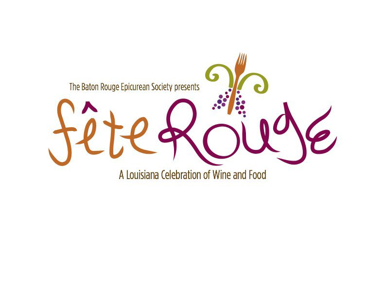Logo for Fete Rouge Louisiana Celebration of Wine and Food. LSU BFA Studio Art Graphic Design
