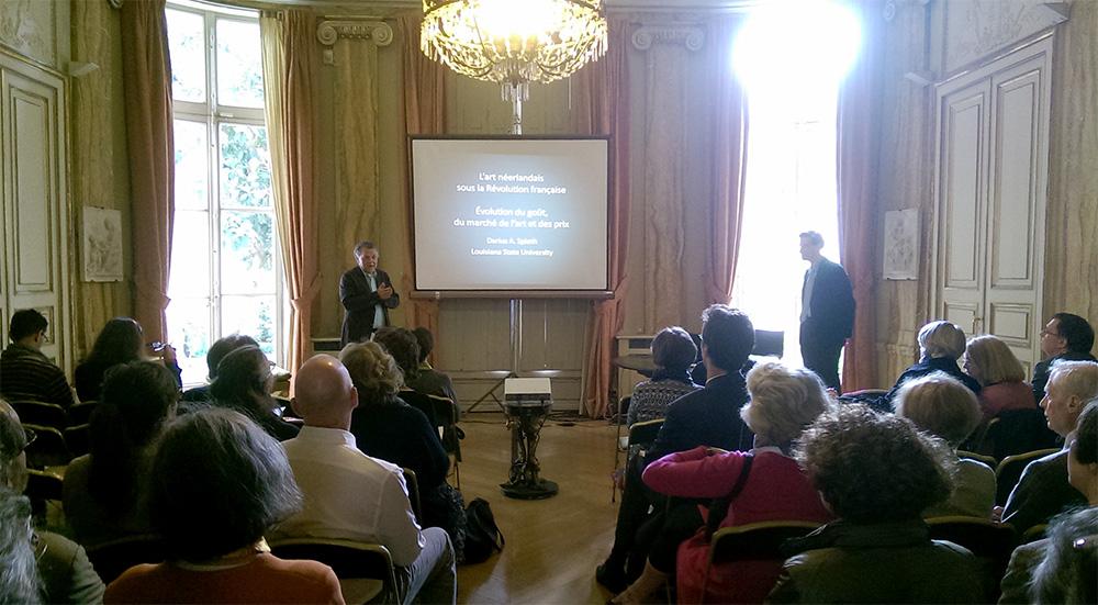Darius Spieth (right) with Mr. Ger Luijten, director of Fondation Custodia