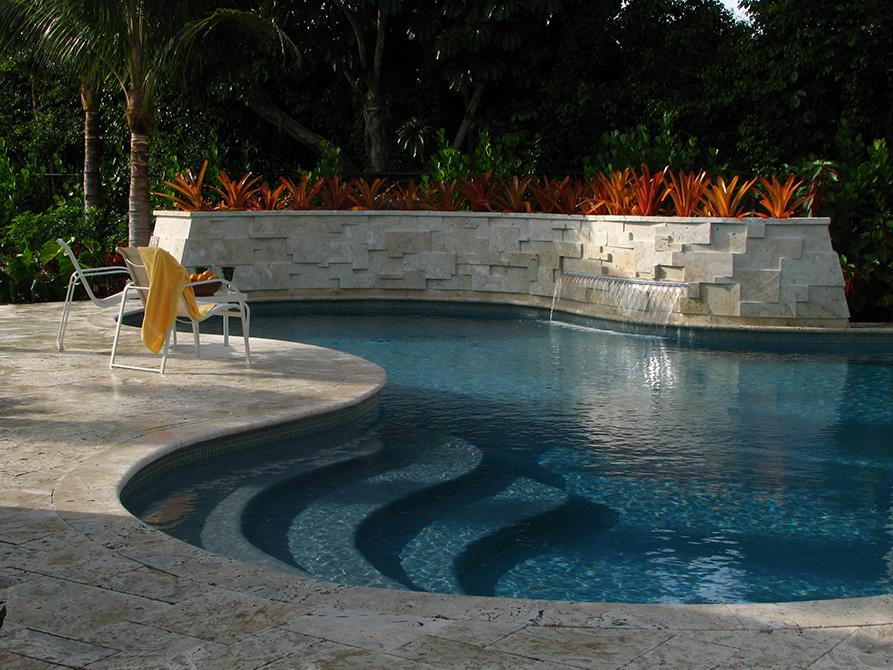 Pool designed by Lewis Aqui , lsu landscape architecture alumni work
