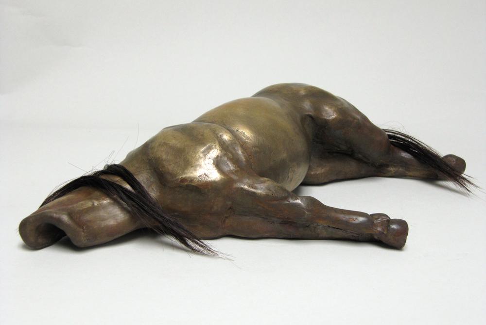 Reclined pony sculpture with hair. LSU BFA Studio Art Sculpture