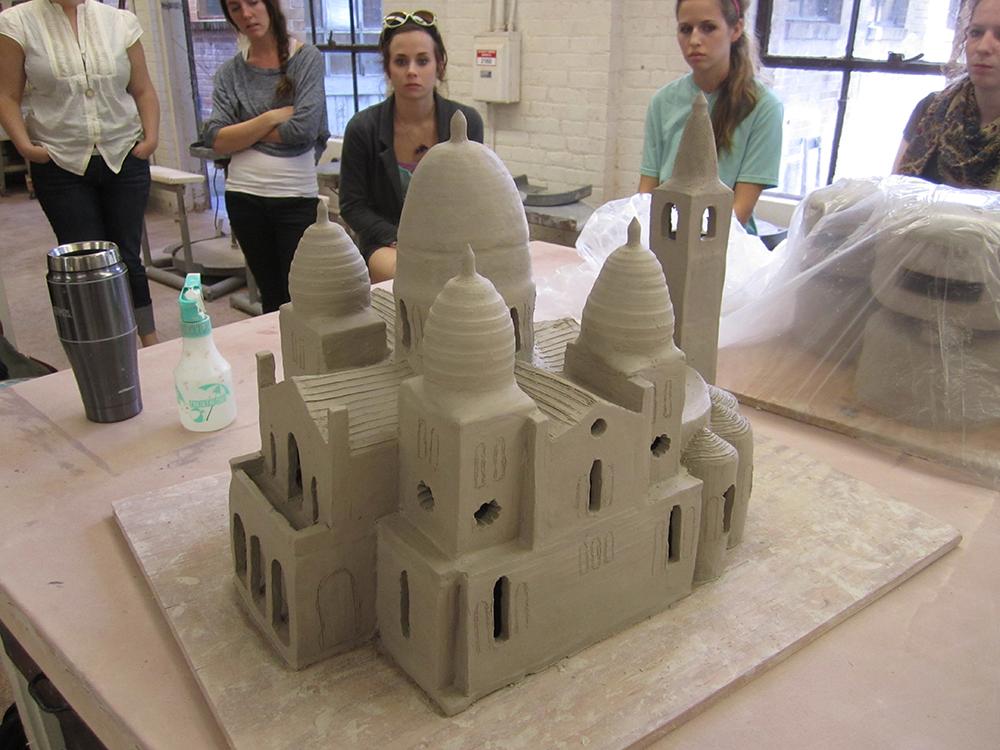 Clay church, LSU BFA Studio Art Ceramics