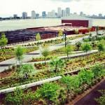 garden with river, city in background, lsu landscape architecture alumni work