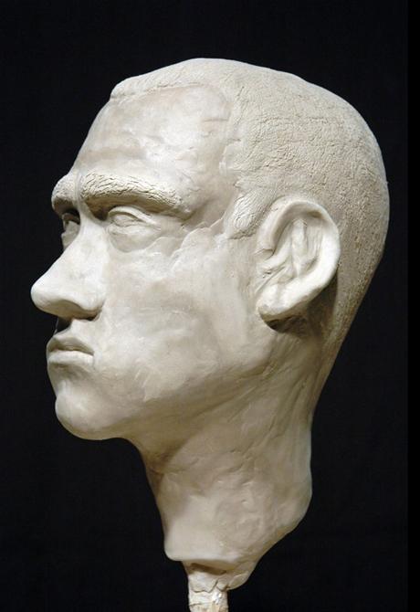 Bust of male face, LSU BFA Studio Art Sculpture